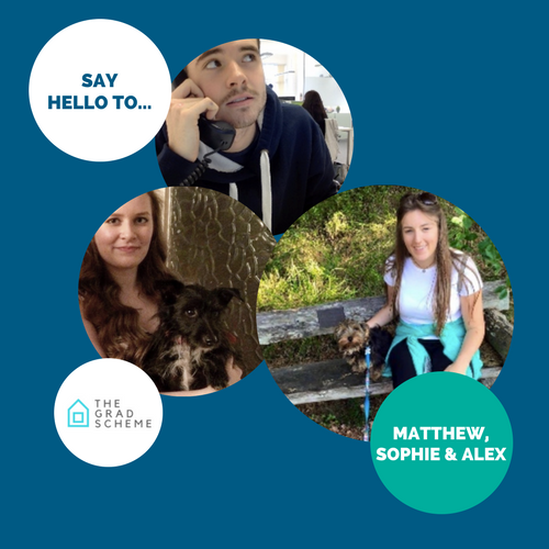 Say hello to… Matthew, Sophie & Alex
