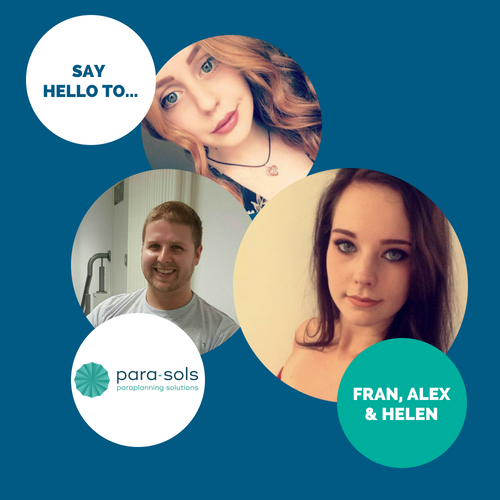 Say hello to… Fran, Alex & Helen